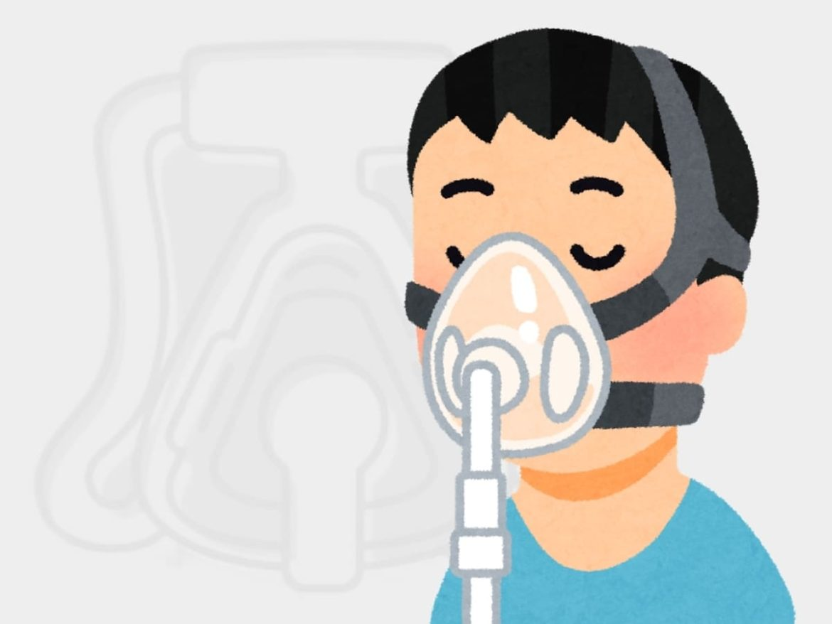 cartoon guy with full face cpap mask
