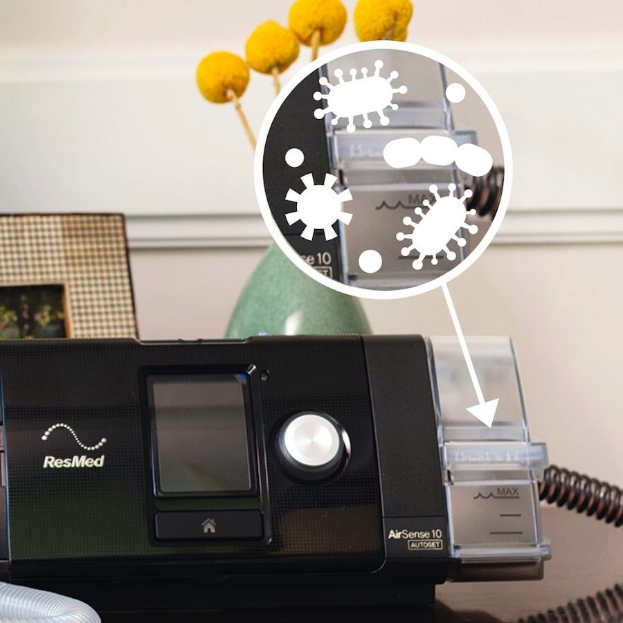 CPAP machine can be a breeding ground for mold, fungus, bacteria and viruses