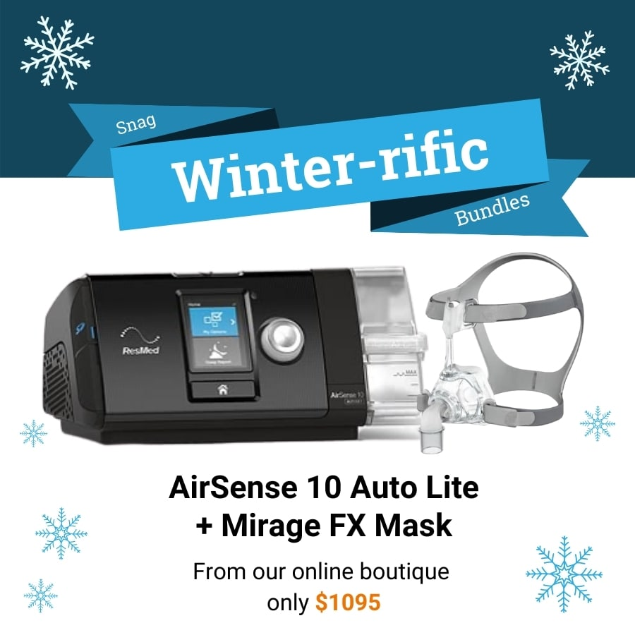 Deal for a Airsense 10 auto lite CPAP with a Mirage FX mask