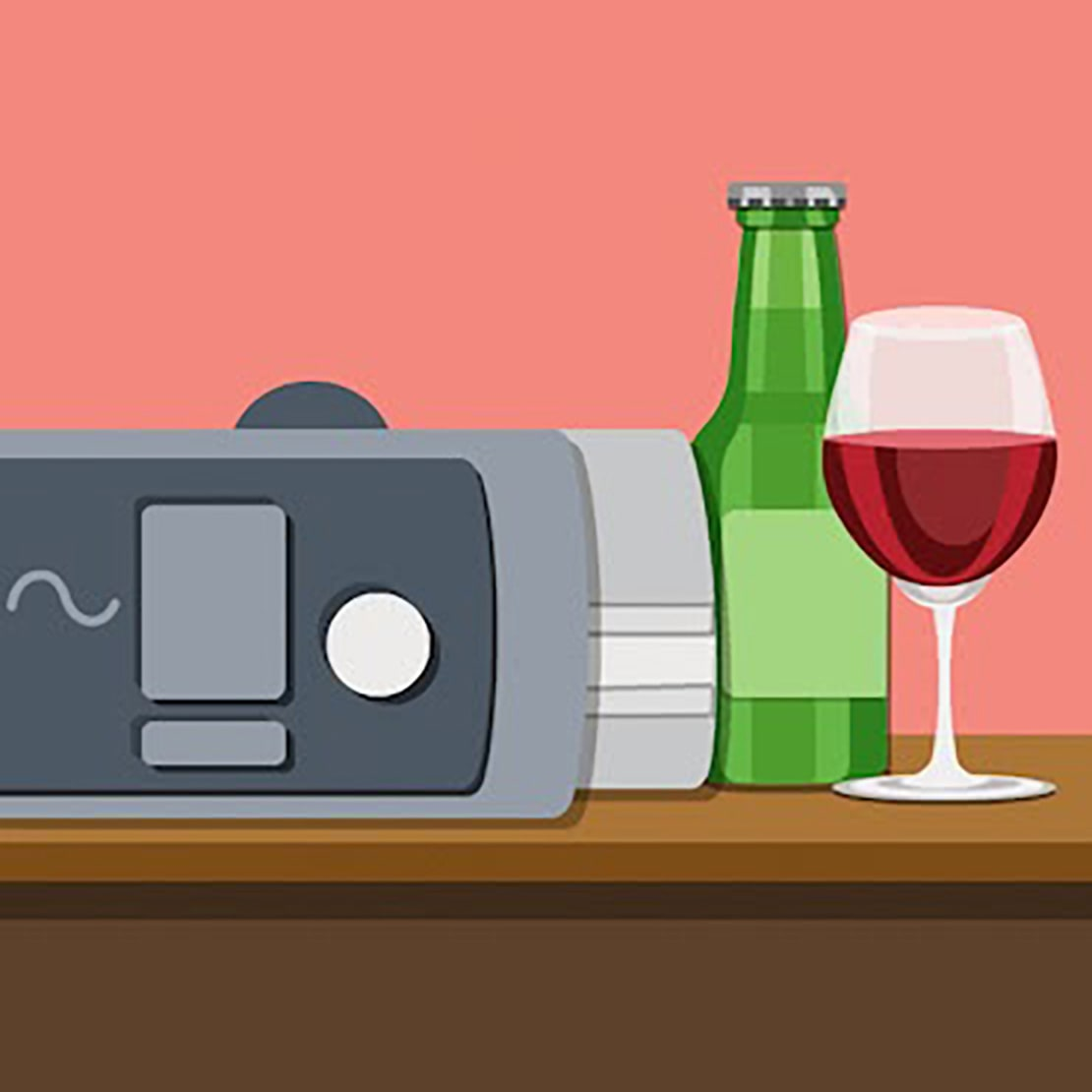 alcohol cpap