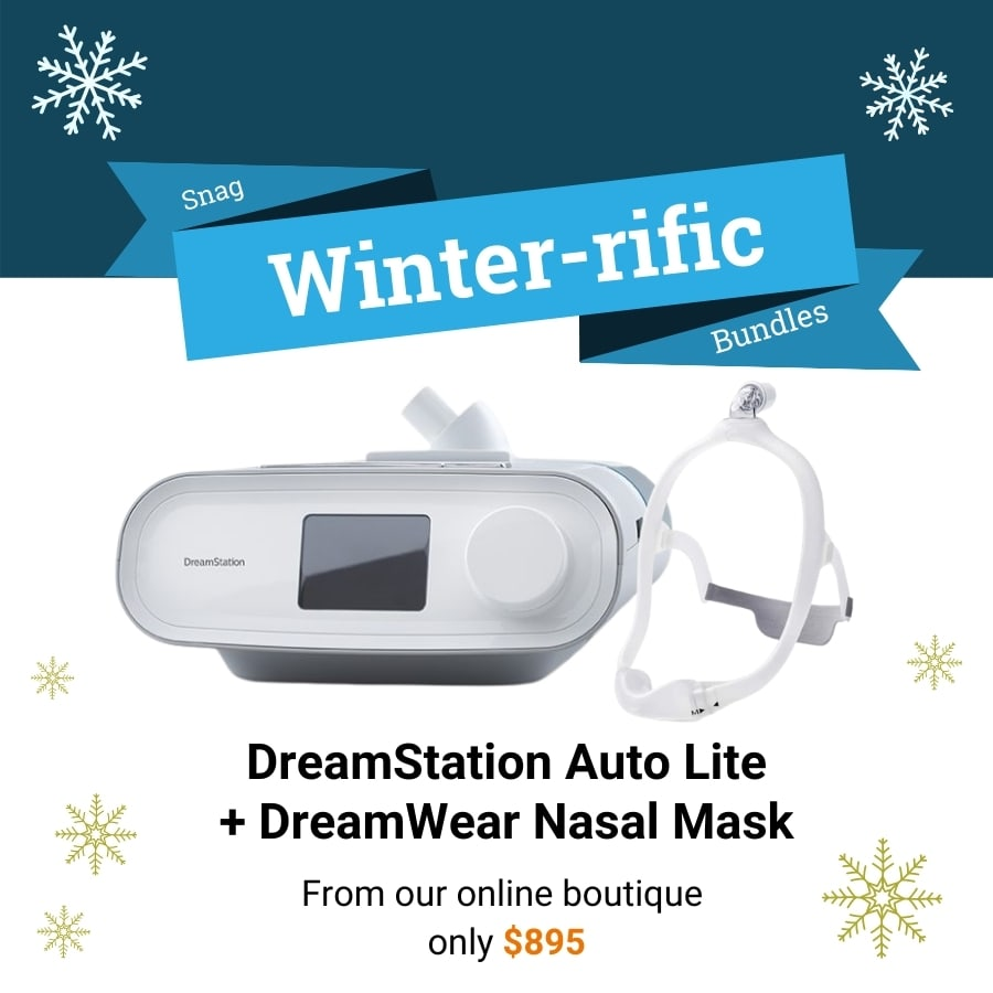 Deal for a Dreamstation auto lite CPAP and a Dreamwear nasal mask