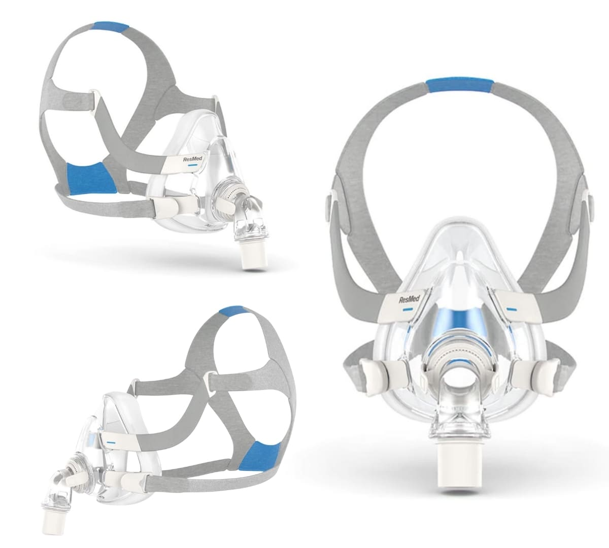 three different angles of the AirFit F20 mask