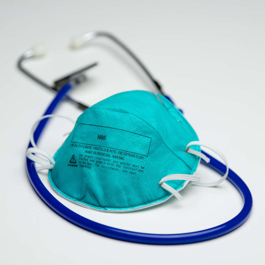 N95 Mask with stethoscope