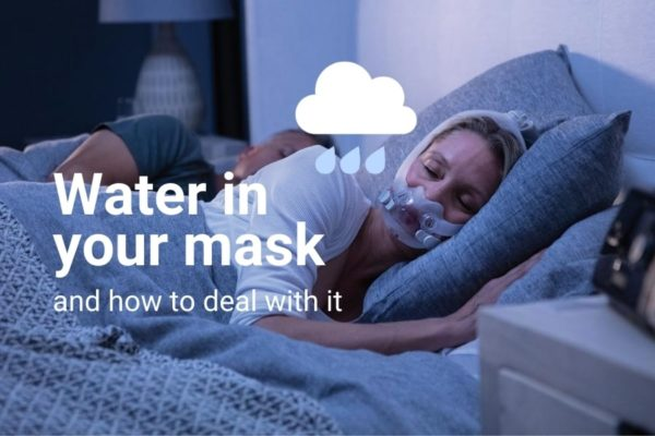 water in your mask